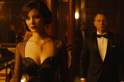 Bérénice Marlohe as Sévérine, Skyfall (2012), Directed by Sam Mendes, starring Daniel Craig as James Bond