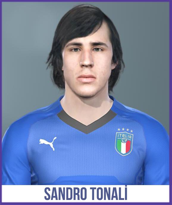 PES 2019 Sandro Tonali (Brescia) Face by Halil Furkan