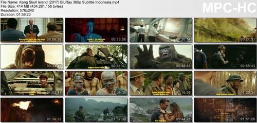 Screenshots Kong Skull Island (2017) BluRay 360p Subtitle Indonesia MP4
