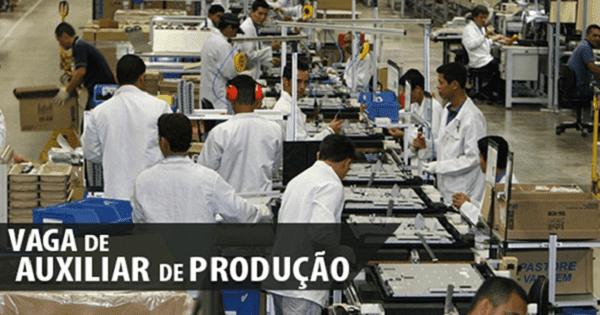 Empresa contrata Auxiliar de Produção Sem Experiência Urgente no Rio