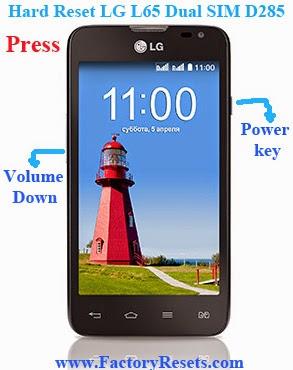 Hard Reset LG L65 Dual SIM D285
