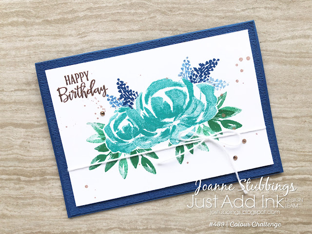 Jo's Stamping Spot - Just Add Ink Challenge #489 using Beautiful Friendship and Peaceful Moments stamp sets by Stampin' Up!