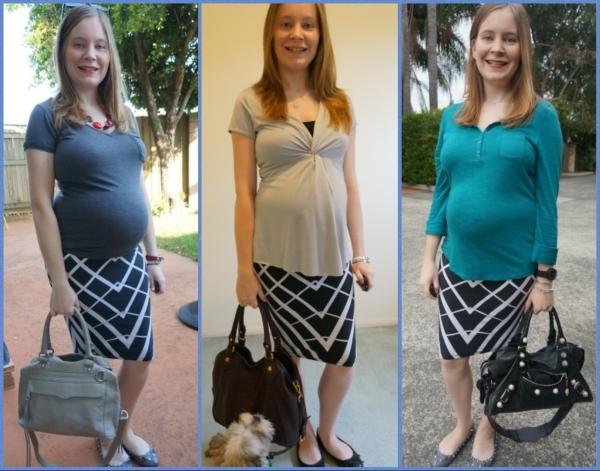 AwayFromBlue | Second Trimester OfficeWear Asos printed maternity pencil skirt