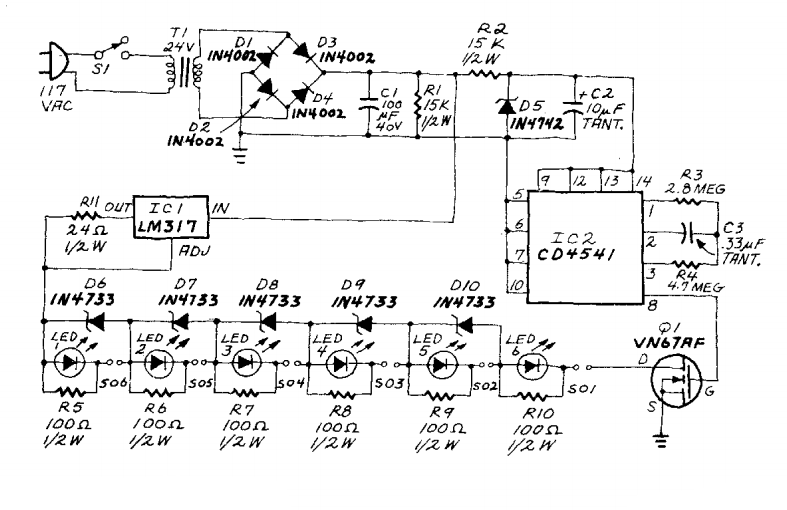 Battery Charger With Lm317 Circuit Diagram