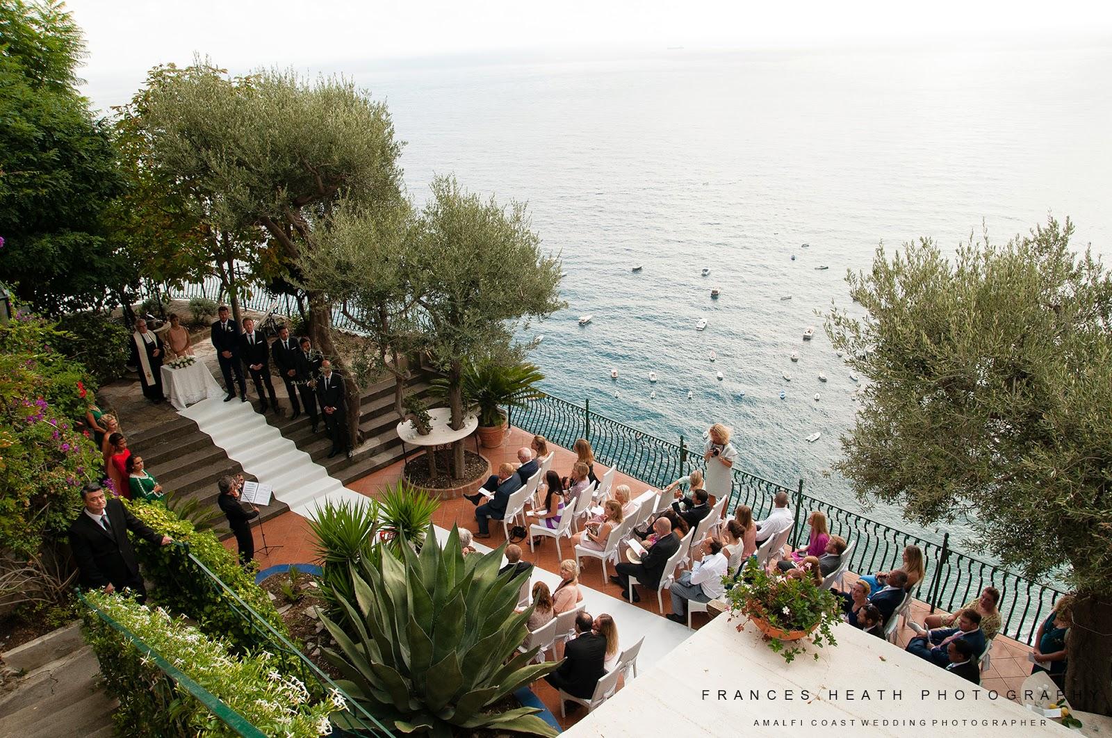 Religious wedding ceremony at Villa Oliviero in Positano