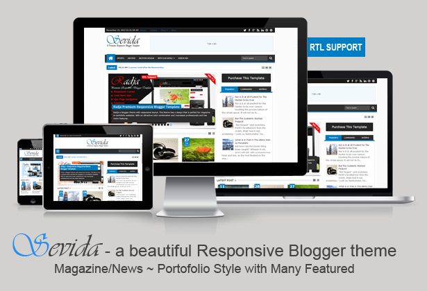 Sevida Template For Blogger Free Download