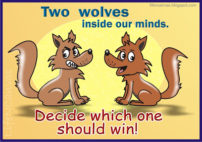 two wolves inside our minds cartoon