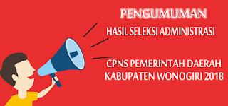 Pengumuman Hasil Skd (Cat) Cpns 2018 BKD Kabupaten Wonogiri