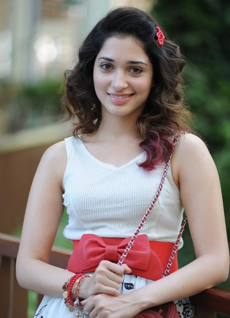 radiant and Rosy Tamanna new cute stills in white dress