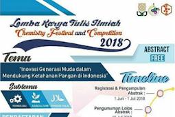 Chemistry Festival & Lomba Karya Tulis Ilmiah Mahasiswa 2018 di UIN SUKA Yogya