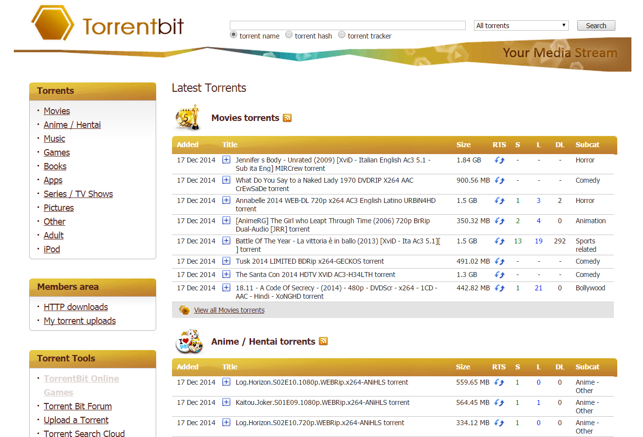 utorrent movies search