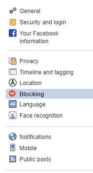 How to Block Someone on Facebook-- go to setting
