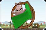 لعبة الخنازير قصف الحذاء