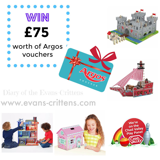 Argos, Chad Valley, £75, competition, win vouchers,