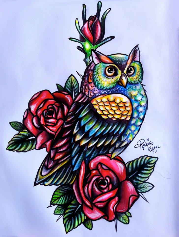 owl tattoo design idea images photos (19)