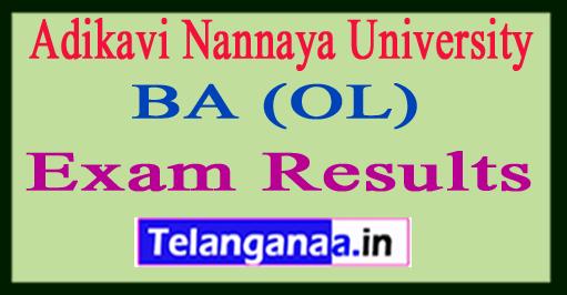 Adikavi Nannaya University BA (OL) Exam Results