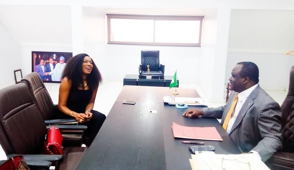 Photos: Chika Ike Reportedly Dating NAFDAC Boss Paul Orhii, Actress Visits Alleged Sugardaddy