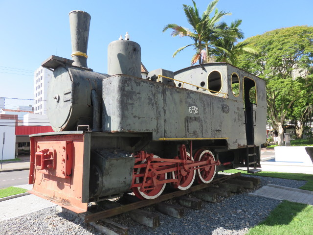 An old black locomotive.