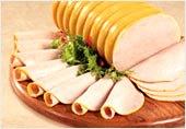 Imagen de jamonadas de gallina o pollo, derivados de la gallina