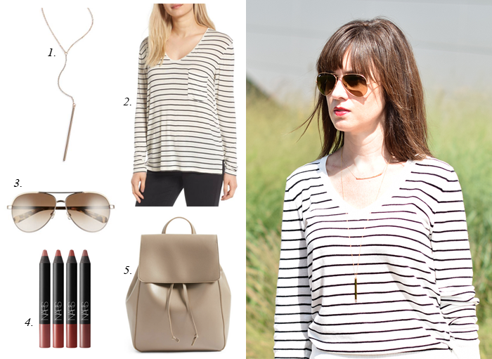 nsale striped tee popular items
