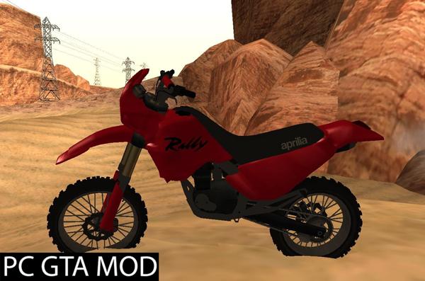 Free Download  Aprilia Tuareg 125 + Zvuk (Sound)  Mod for GTA San Andreas.