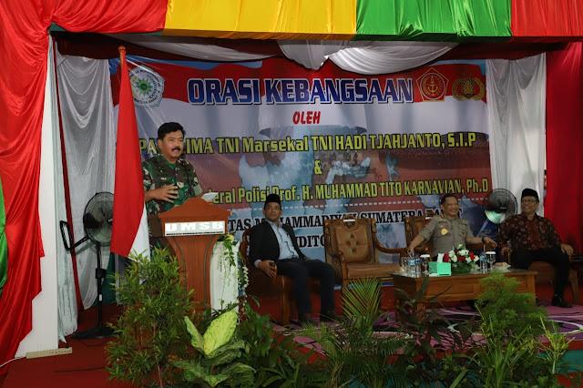 Panglima TNI : Generasi Muda Pelopor Semangat Kebangsaaan