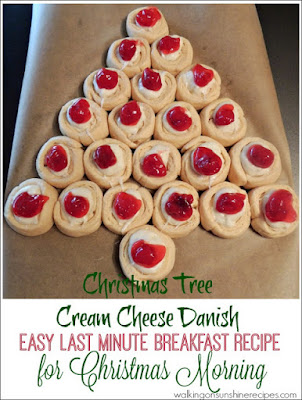 Christmas Tree Cream Cheese Danish from Walking on Sunshine Recipes