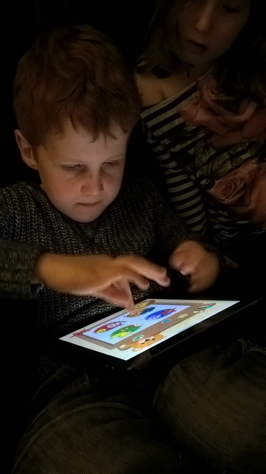 Ieuan testing KidzInMind game - motherdistracted.co.uk