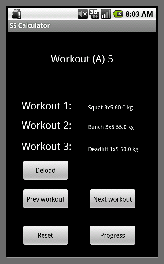 Starting Strength Calculator Android App | A Developer's
