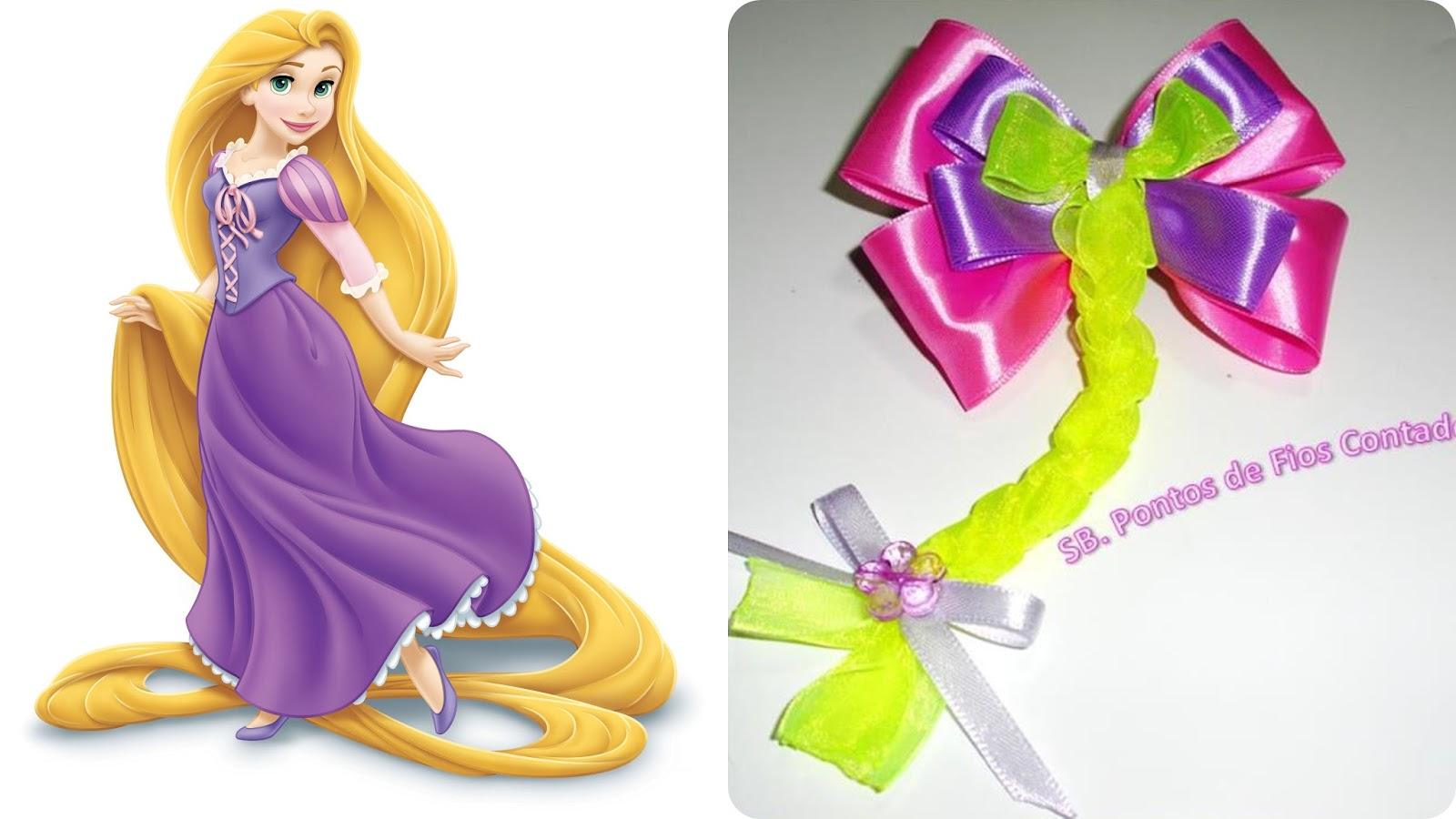 Laço cabelo (Rapunzel)