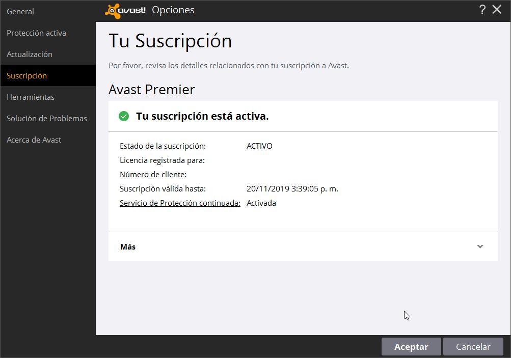 Avast Premier 2016 licencia