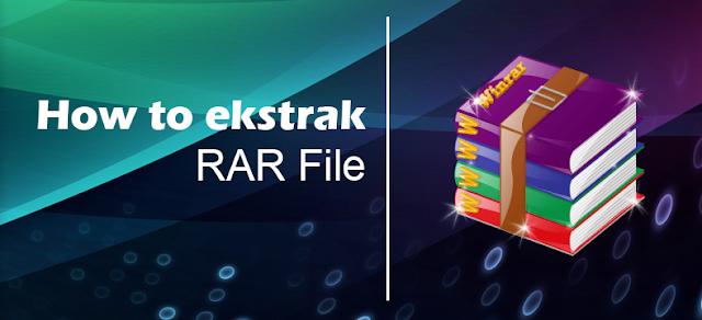 ekstrak file zip atau rar di windows pc