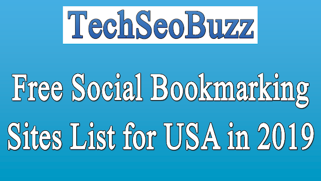 Free Social Bookmarking Sites List for USA in 2019