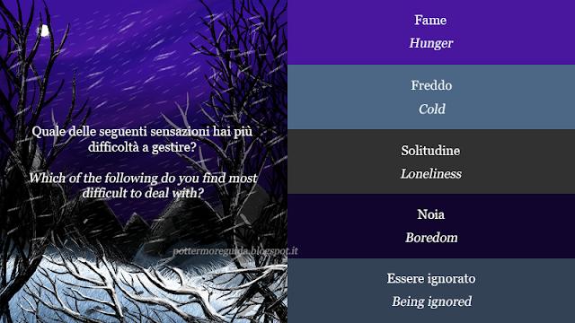 Quale delle seguenti sensazioni hai più difficoltà a gestire?