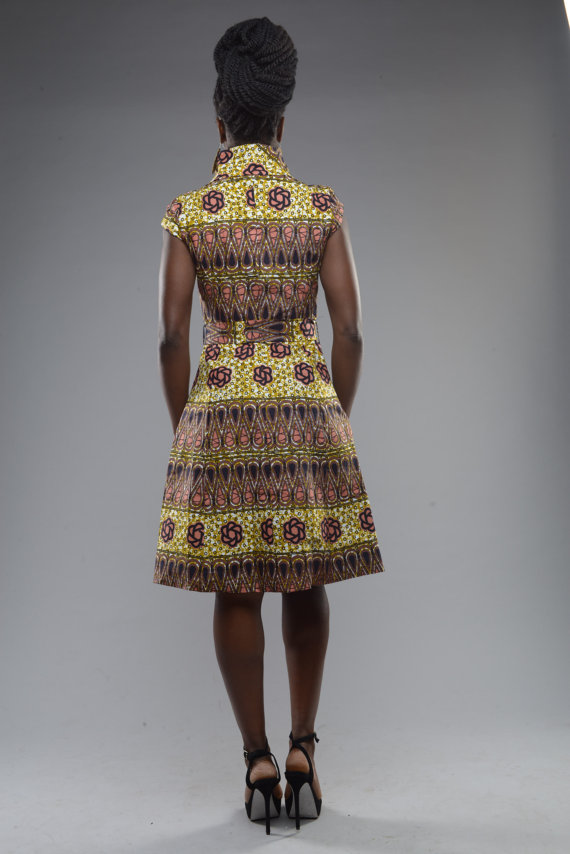 Ankara African evening gowns
