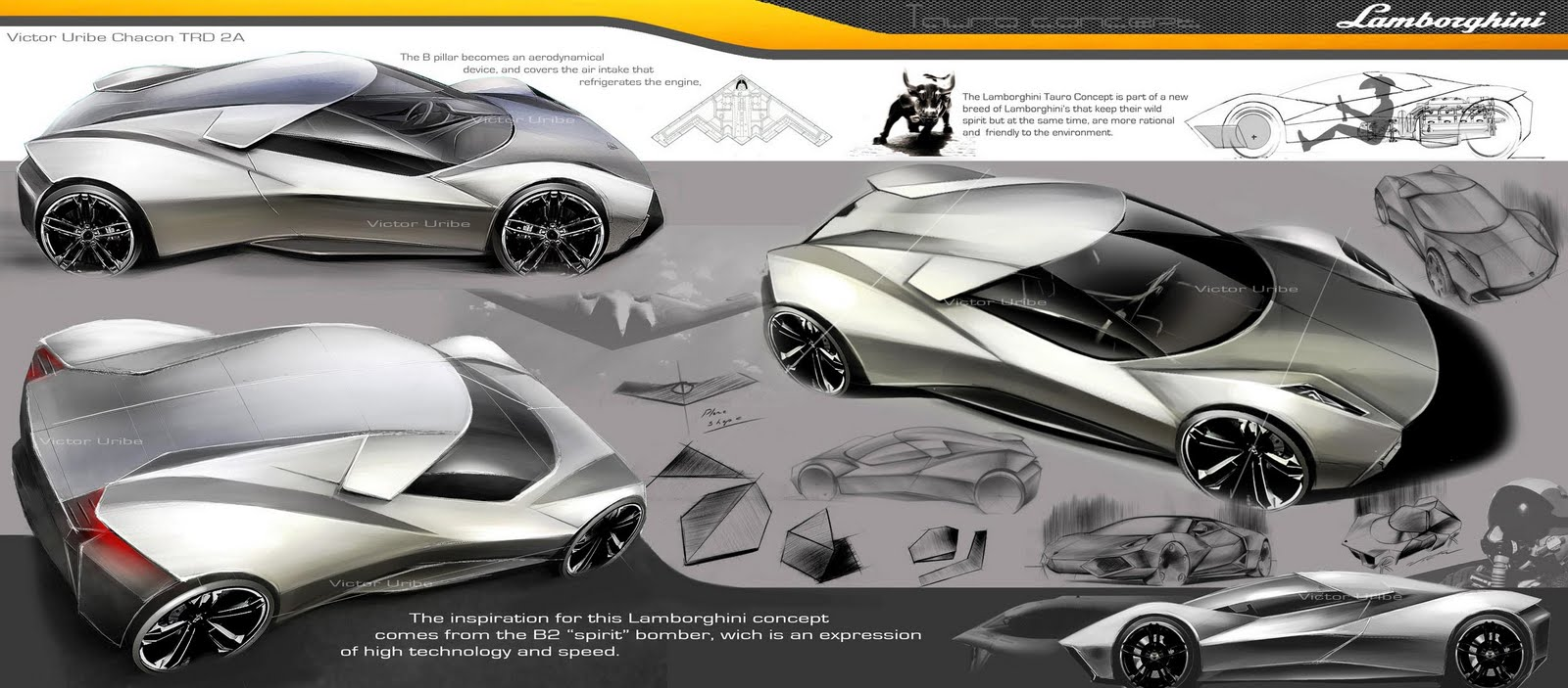 Lamborghini Design Sketches By Various Artist Supercar Sketches