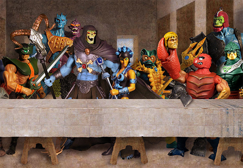 He-Man Villains Epic Last Supper by Gumley (detail)