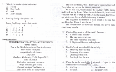 Berkas Soal UKK Matematika Kelas VII SMP Semester 2 KTSP