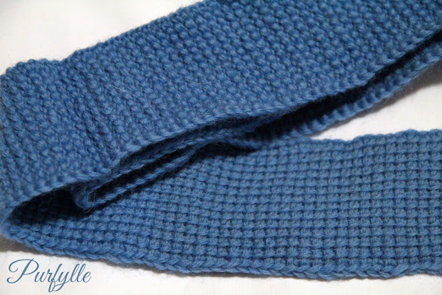 plain Tunisian crochet strip