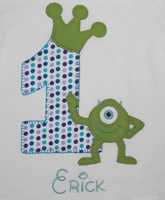 camiseta cumpleaños monstruos s.a.