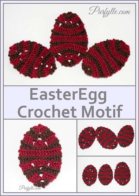 Easter Egg Back Loop Crochet Pattern 1