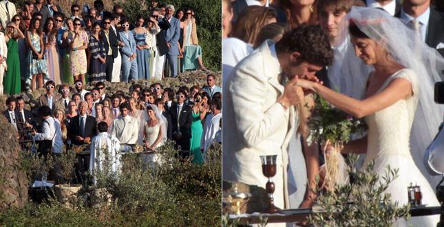 red carpet wedding carlo borromeo and marta ferri red