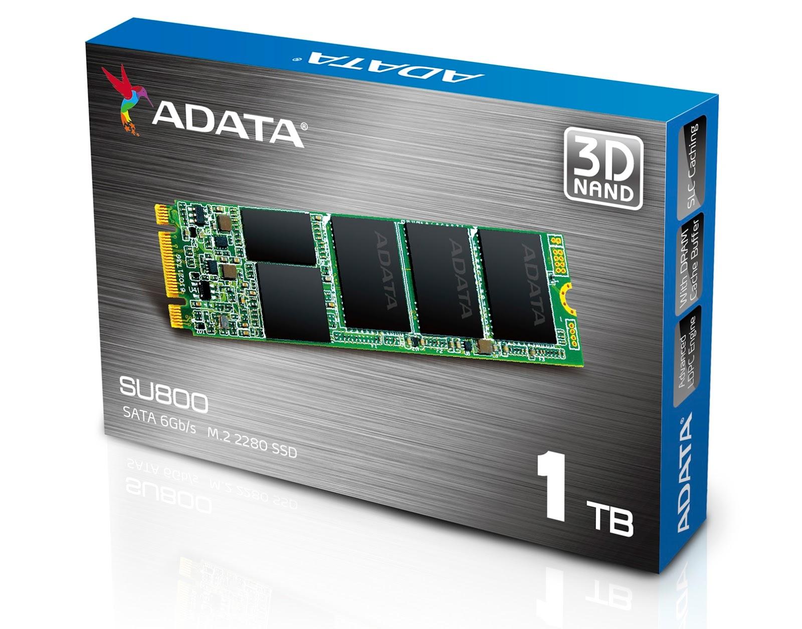 ADATA Ultimate SU800 M.2 2280 SATA 6Gb/s 3D NAND SSD