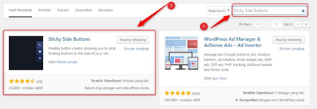 Cara Membuat Tombol Melayang di Website Wordpress