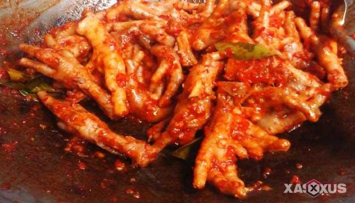 Resep cara membuat ceker mercon super pedas