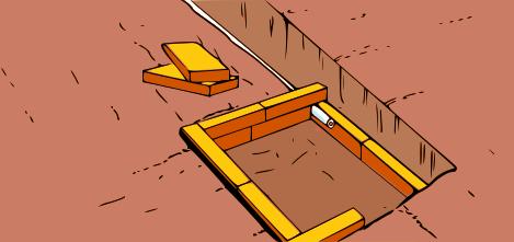 costruire-parete-in-mattoni-per-messa-a-terra