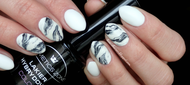 marmurkowe paznokcie hybrydowe