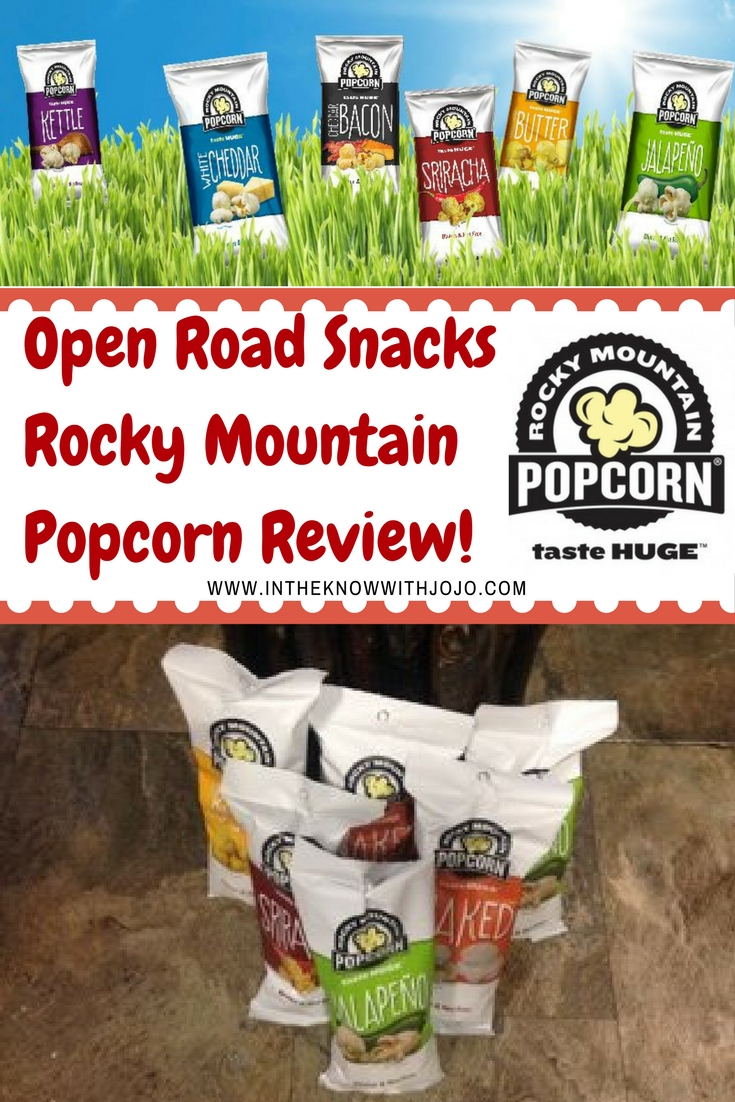 The #OpenRoadSnacks Rocky Mountain #Popcorn is great for family gatherings.