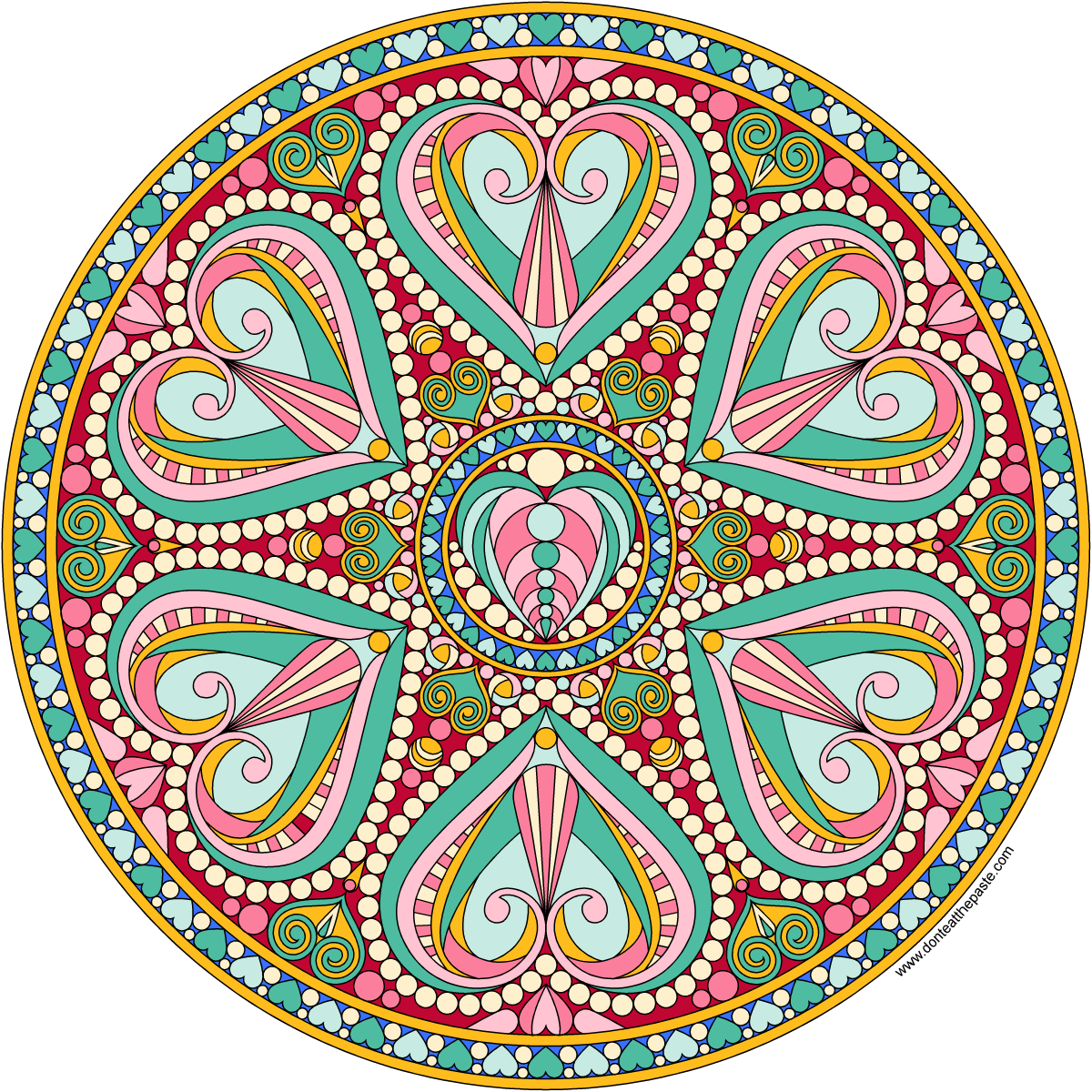 don t eat the paste 2016 valentine mandala to color