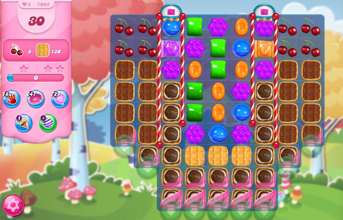 Candy Crush Saga level 7092